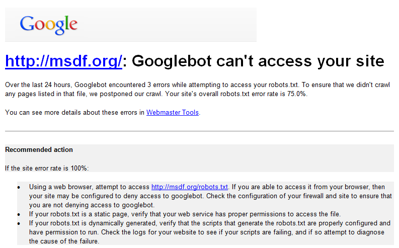 Googlebot Can't Access Your Site – Cara Mengatasinya ?
