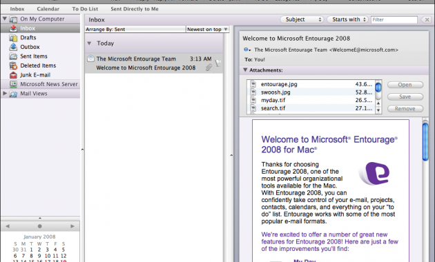 Setting E-mail pada Microsoft Entourage 2008 dan Mail